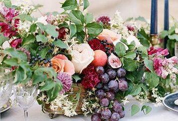 Приворот на виноград и ирисы
